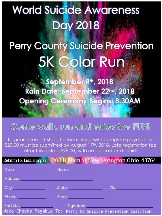 Perry County Suicide Prevention 5K Color Run