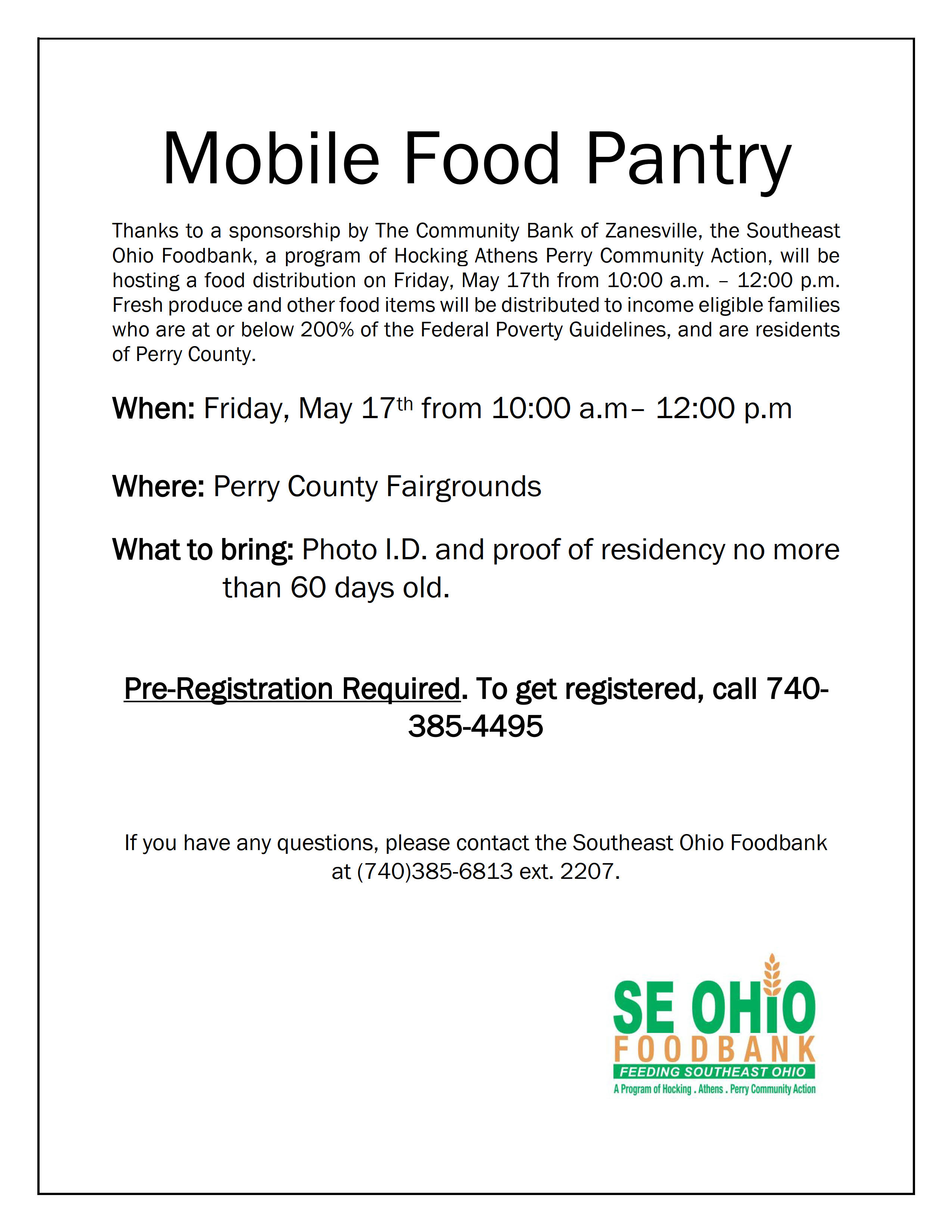 Mobile Food Pantry — Perry County Ohio