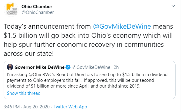 Governor's Office COVID-19 Update   August 20, 2020