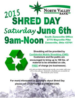 NVB Shred Day Flyer
