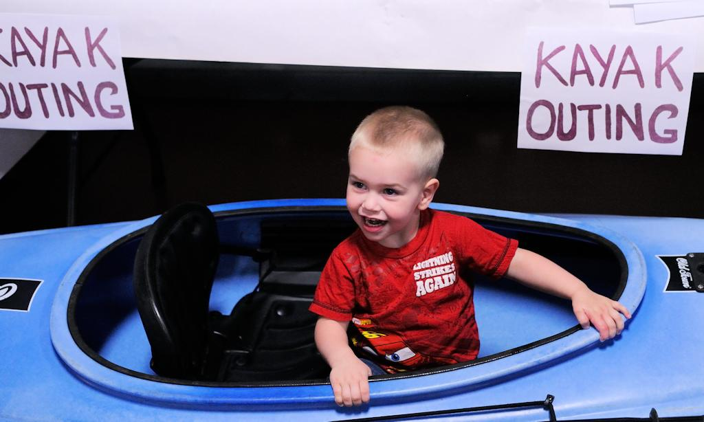 Boy in kayak